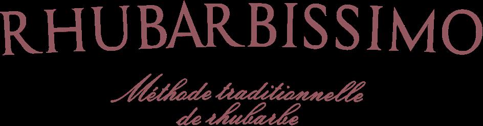 Logo des cartons de vin effervescents  Rhubarbissimo